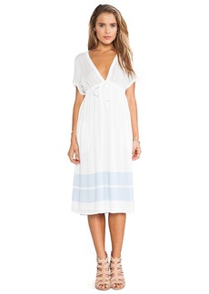 James Perse Empire Dress in White