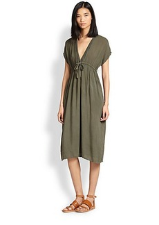 James Perse Empire-Waisted Voile Dress