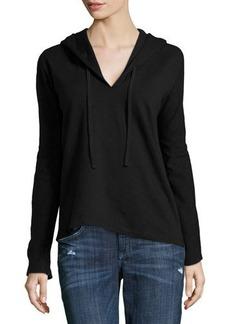 James Perse Fleece Long-Sleeve Hooded Sweatshirt