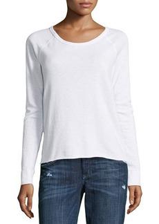 James Perse Fleece Raglan-Sleeve Pullover