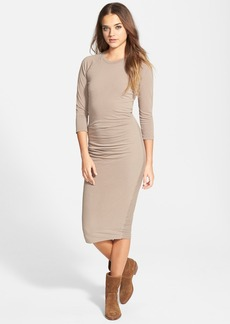 James Perse Gathered Raglan Midi Dress (Nordstrom Exclusive)