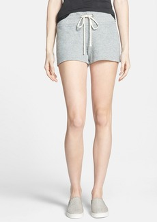 James Perse Heathered Fleece Shorts