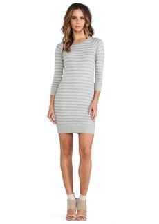 James Perse Heathered Stripe Vintage Cotton Dress