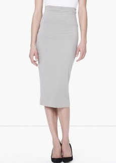 James Perse HIGH WAISTED BRUSHED JERSEY SKIRT