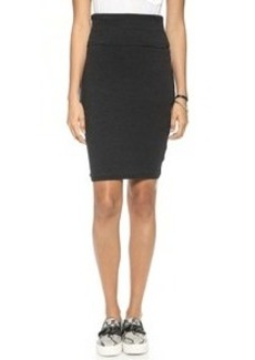 James Perse High Waisted Sueded Jersey Skirt