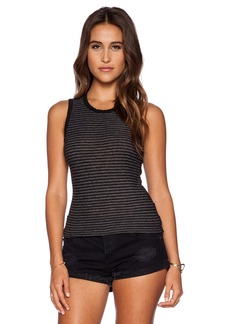 James Perse Inside Out Stripe Tomboy Tank