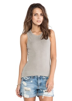 James Perse Inside Out Tomboy Tank in Gray