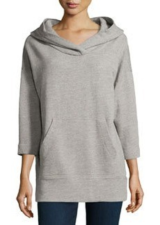 James Perse Jersey Oversized Hoodie Sweatshirt, Shadow