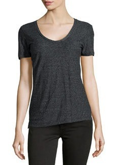 James Perse Jersey Scoop-Neck Tee, Black
