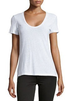 James Perse Jersey Scoop-Neck Tee, White