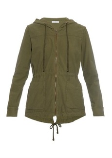James Perse Jersey-twill parka jacket