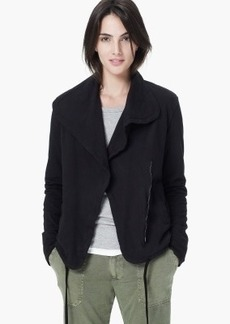 James Perse KNIT TWILL MOTO JACKET