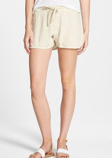 James Perse Linen Canvas Dolphin Shorts