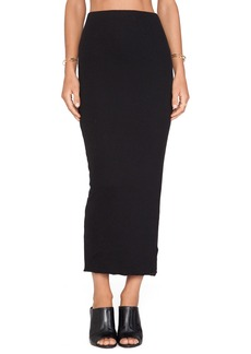 James Perse Long Cashmere Rib Skirt