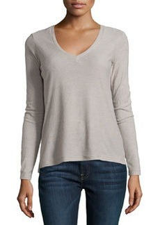 James Perse Long-Sleeve V-Neck Tee, Shadow