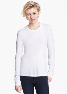 James Perse Mini Jersey Long Sleeve Crewneck Tee