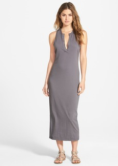 James Perse Open Henley Jersey Tank Dress