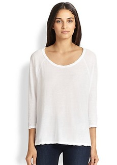 James Perse Oversized Cotton Jersey Tee