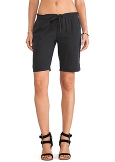 James Perse Paper Bag Gauze Short in Black