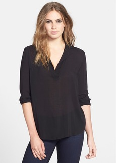 James Perse Pullover Lapel Henley