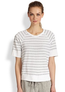 James Perse Raglan-Sleeved Striped Cotton Tee
