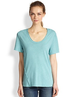 James Perse Raw-Seamed Cotton Jersey Tee