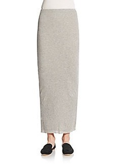 James Perse Ribbed Cotton & Cashmere Maxi Skirt