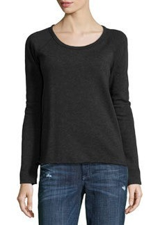James Perse Rolled-Hem Raglan-Sleeve Pullover, Burro