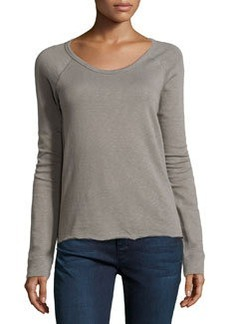 James Perse Rolled Hem Raglan Sleeve Pullover, Burro