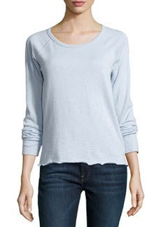 James Perse Rolled-Hem Raglan-Sleeve Pullover, Open Sky