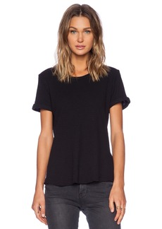 James Perse Rolled Sleeve Thermal Tee