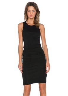 James Perse Ruched Belt Dress