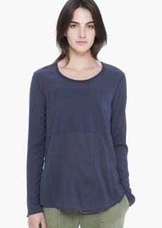 James Perse SEAMED STRETCH CHIFFON TOP