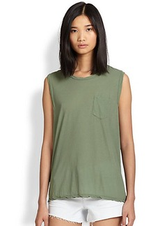 James Perse Shell Cotton Jersey Muscle Tee