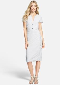 James Perse Short Sleeve Henley Dress