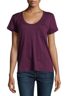 James Perse Short-Sleeve Pocket Tee, Valencia