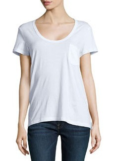 James Perse Short-Sleeve Pocket Tee, White