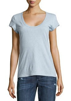 James Perse Short Sleeve Striped Knit Tee, Open Sky