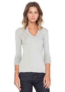 James Perse Skinny Cowl Cashmere Top