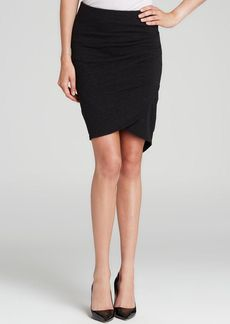 James Perse Skirt - Faux Suede Stretch Jersey