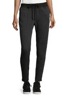 James Perse Slim-Fit Drawstring Sweatpants, Charcoal