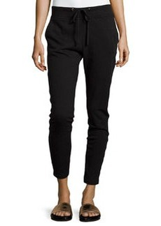 James Perse Slim-Fit Drawstring Sweatpants, Black