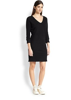 James Perse Slouched Dolman-Sleeved Cotton Dress