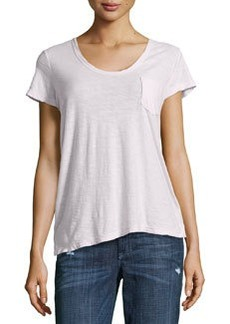 James Perse Slub Jersey Pocket Tee, Cyclamen (Light Pink)