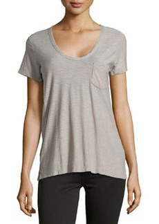 James Perse Slub Jersey Pocket Tee, Shadow (Gray)