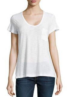James Perse Slub Jersey Pocket Tee, White