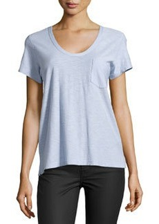James Perse Slub Jersey Pocket Tee, Willow (Light Blue)