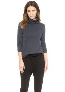 James Perse Soft Funnel French Terry Top