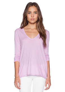 James Perse Soft V Long Sleeve Tee