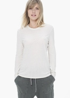James Perse SPACED JERSEY CREW NECK